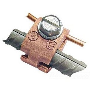 "Greaves J32-DB Rebar Ground Clamp, 1/2 to 3/4"", 6 to 4/0 AWG, Bronze"
