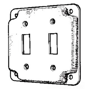 Mulberry Metal 11410 4-IN.2 SWITCH COVER
