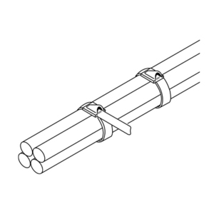 Panduit MLT2S-L MLT Tie, 304 SS, Standard, 7.9 (201mm),