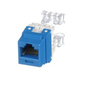 Panduit NK688MBU Snap In Connector, NetKey, Cat 6, Component Rated, Blue
