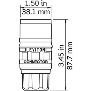 Leviton 74W47-C Connector for Inlet