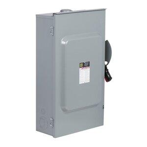 Square D HU364NRB Disconnect Switch, Non-Fusible, NEMA 3R, 200A, 600VAC, Heavy Duty