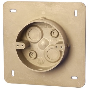 "Allied Moulded AC9500BULK Round Fixture Support Box, New Work, Diameter: 4"", Fiberglass"