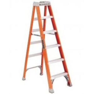 Louisville Ladders FS1506 Fiberglass Stepladder, 6', 300 lb Rating