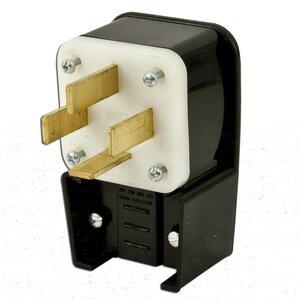 Leviton 8362-P 60 Amp Angle Plug, 120/208V 3PH Y, 18-60P, 4P4W, Non-Grounding