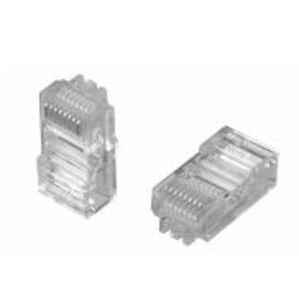 Tyco Electronics 5-557315-3 Modular Jack Plug, 8-Position, Round, Solid, 24 - 26 AWG