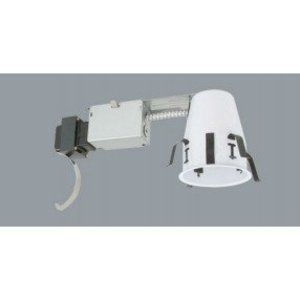 """Elite Lighting BL4R-AT-W Miniature Non-IC Remodel Housing, Air-Tight, with Baffle, 4"""""""
