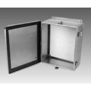 "Adalet JN4XHSS-100806 JIC Box, NEMA 4X, Continuous Hinge10 x 8 x 6"",  Stainless Steel"