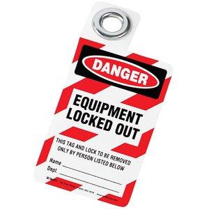 "Brady 105722 Padlock Tag, ""Equipment Locked Out"""
