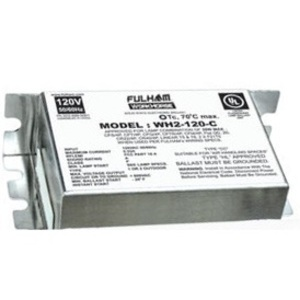 Fulham WH2-277-C Electronic Ballast, Fluorescent, T8, 2-Lamp, 14W, 277V