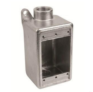 """Calbrite S61000FDCS Single Gang Box, Type FDC, 1"""" Hubs, Stainless Steel"""