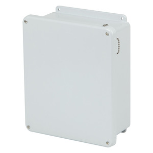 "Stahlin J1210W Enclosure, NEMA 4X, 12"" x 10"" x 5"", Screw Cover, Gray, Fiberglass"