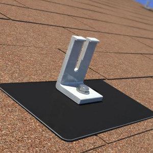 Ecofasten Solar GF1-GAL-BLK-812 GreenFasten, 8x12, Galvalume Black Flashing