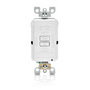 AFRBF-W WHITE AFCI BLNK FACE LIT 20A125V