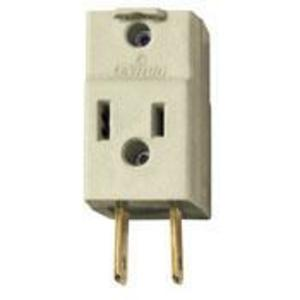 Leviton 531-I 15 Amp NEMA 1-15, 3-Outlet Adapter, Ivory