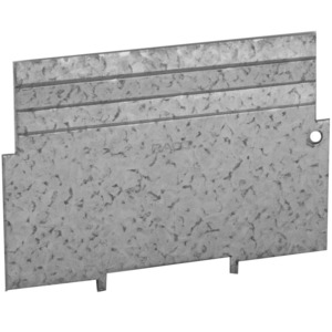 """Hubbell-Raco 706RAC 4"""" Square Partition, Low Voltage, 4"""" x 4"""" X 1-1/2"""", Steel"""