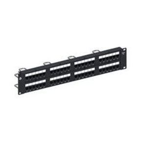 "Commscope 760180059 Patch Panel, Cat 6, 48 Port, 2 Units Height, UTP, 19"" Length, Black"