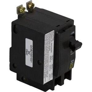 Square D QO21001021 Breaker, 2P, 100A, 120/240VAC, 10kAIC, Plug-In, Shunt Trip