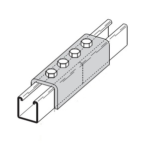 Eaton B-Line B172HDG FOUR HOLE SPLICE CLEVIS FOR B22 OR B52A CHANNEL, HOT DIP GALVANIZED
