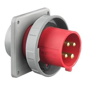 Hubbell-Wiring Kellems HBL4125B6W PS, IEC, INLET,