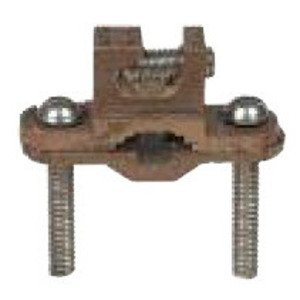 "Galvan JRD Bare Wire Ground Clamp, Size: 1/2 to 1"", 10 to 2 AWG, Bronze"