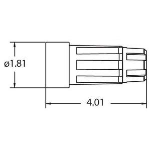 Ericson 1610-CW6P Weatherproof Connector, 15A, 125V, NEMA 5-15, Yellow