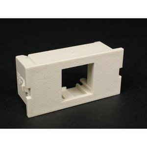 Wiremold CM2-U1NOR Single Unloaded Flushmount Module, Non-Metallic, Ivory