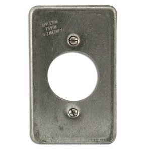 Appleton FSK-1R-Y Receptacle Cover, 1-Gang, Steel, Fits FS and FD Boxes