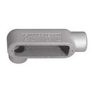 "Appleton LR28 Conduit Body, Type: LR, 3/4"", Form 8, Grayloy Iron"
