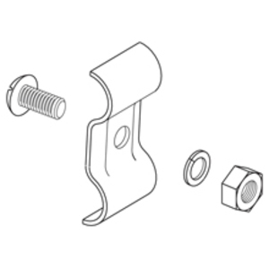 Cooper B-Line 9ZN-2351 Grounding Clamp, 1 - 2/0 AWG, Zinc Plated