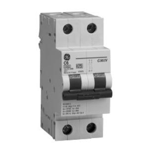 GE EP102ULD20 Breaker, Miniature, 2P, 20A, 120/240VAC, 10kAIC, DIN Rail Mount