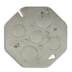 "Appleton OCP Concrete Ring Cover, Diameter: 4"", 1/2"" and 3/4"" Knockouts, Steel"