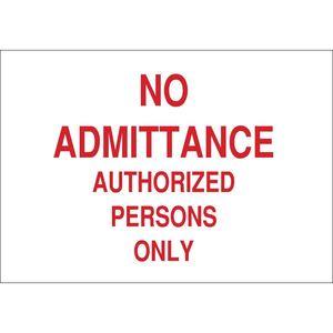 22221 ADMITTANCE SIGN