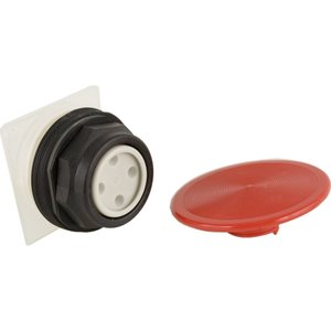Square D 9001SKR5R Push Button, 30mm, Mushroom Head, 57mm, Red, No Contacts, Momentary