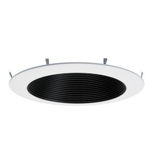 "Elite Lighting RL631-BT-P-BK LED Retrofit Baffle Trim, Black, 6"", for RL631 Module"