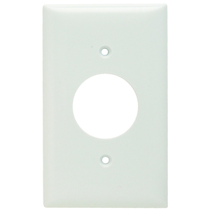 Pass & Seymour SP7-W Single Receptacle Wall Plate, 1-Gang, Thermoset, Standard, White