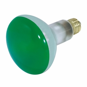 Satco S3227 SATCO S3227 75 Watt; BR30; Green; 2000 Average Rated Hours; Medium Base; 130 Volts