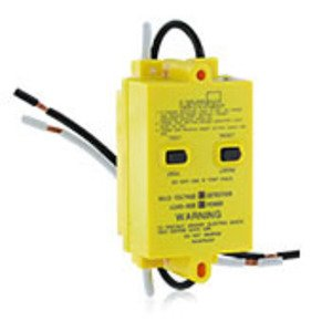 Leviton 46596-Y Automatic Reset GFCI, Panel Mount, 20A, 120V, Yellow