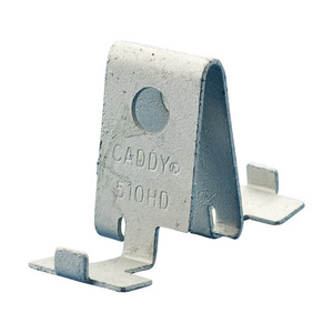 nVent Caddy 510HD Box Mounting Clip, Mounts to T-Bar Hanger, Steel