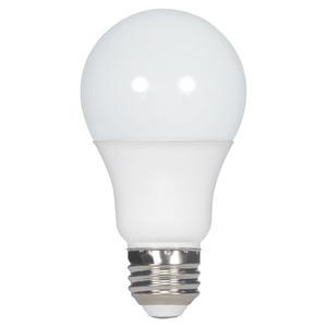 Satco S8920 8.5 watt; A19 LED; 5000K; Medium base; 220' beam spread; 120-277 volts