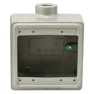 "Appleton FD275 FD Device Box, 2-Gang, Dead-End, Type FD, 3/4"", Malleable Iron"