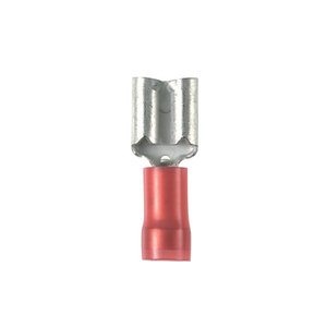 "Panduit DNF18-188-C Female Disconnect, Nylon Barrel Insulated, 22 - 18 AWG, .187"" x .020"" Tab, Red"