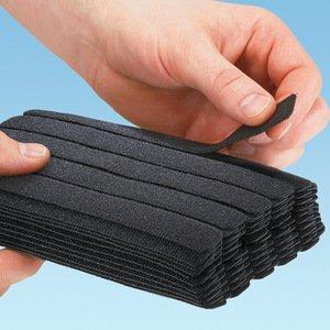 "Panduit HLB2S-C0 Velcro Straping, 1/2"" Wide, Black, CMP, 8"" Strips"