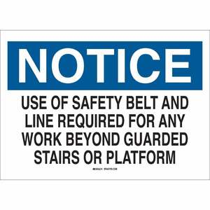 25627 FALL PROTECTION SIGN