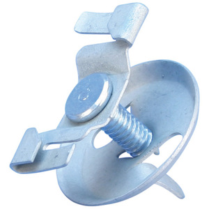 "nVent Caddy 4G9 Fixture Clip, Type: Twist-On, Hole: 9/16"", Length: 1/2"", Steel"