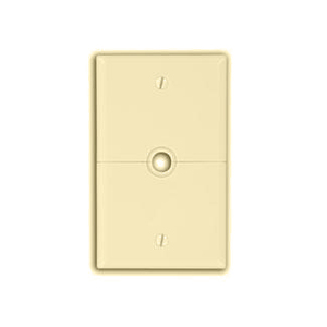 Leviton N751-I Sectional Wallplate, Phone/Cable Split Plate, Nylon, Ivory