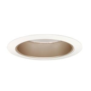 "Juno Lighting 204-WHZWH Cone Trim, 5"", BR30/PAR30, Wheat Haze Reflector/White Trim"