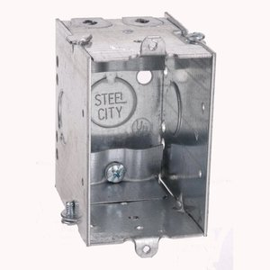 """Steel City CWNLE 3x2x2-3/4"""" Switch Bx,g-able,clamps"""