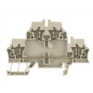 Weidmuller 1674300000 Terminal Block, 2 Tier, Feed Through,  2.5 mm, Dark Beige, Z-Series