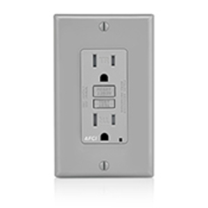 Leviton AFTR1-GY Arc Fault/Tamper Receptacle
